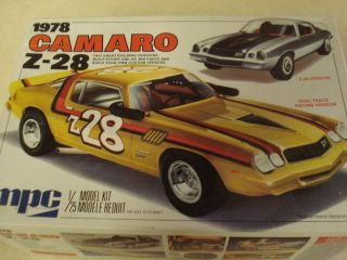 MPC 1978 Camaro Z 28 1 25th Scale Model Car Kit 30 Years Old