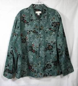 BANKS christopher banks flocked green floral stretch casual