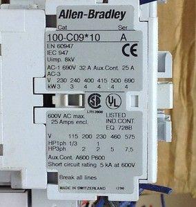 Allen Bradley 100 C09 10 Contactor