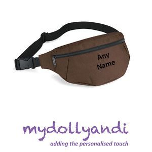 New Personalised Belt Hip Bum Fanny Pack Bag Chocolate