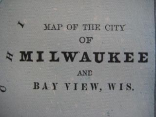 1894 Street Map Milwaukee Bay View Wisconsin Lighthouse