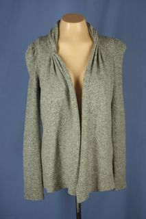 Anthropologie Tokyo Map Ladys Choice Gray Cardigan Wool Sweater Size