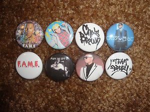 CHRIS BROWN FAME & FORTUNE Buttons Pins Badges Team Breezy Hoodie Hat