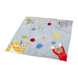 IKEA LEKA CIRKUS Baby Children Kids PLAY MAT Grey 118 x 118 cm
