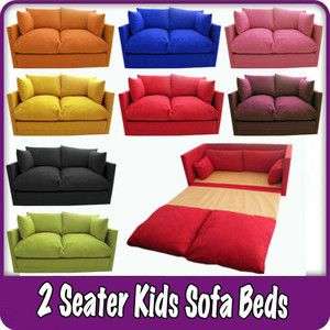 Kids Childrens Sofa Fold Out Bed Boys Girls Seating Seat Sleepover