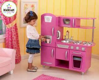 New Childrens Kids Bubblegum Wood Wooden Pretend Play Vintage Kitchen