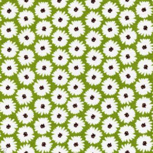 Michael Miller Honey Bee Bloom Daisy Herb Green Fabric