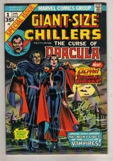 1974 Marvel GIANT SIZE CHILLERS #1 1st App DRACULA Daughter LILITH