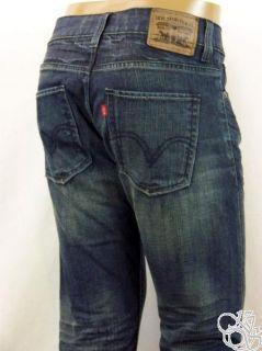 Levis Jeans 511 Skinny Low Rise Mens Dark Denim w Fade Pants New