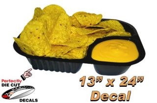 Nachos and Cheese 13x24 Decal for Hot Dog Cart or Concession Stand
