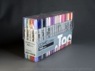 Copic Ciao Marker Set 72 B Brush Chisel Tip Refillable Marker Plus