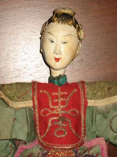 Antique Chinese Opera Dolls Wedding Couple Bride + Groom in a Box