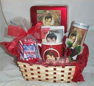 Basket Elvis Christmas Mug Coffee Hot Chocolate Cookies Candy Gifts