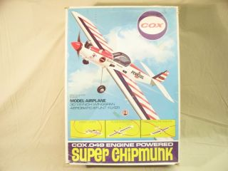 Cox Thimble Drome Super Chipmunk Control Line Stunt Model Airplane w