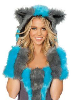 chester cat alice wonderland costume gloves fingerless faux fur