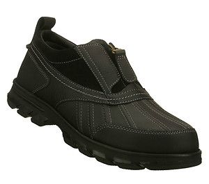 Marc Ecko Unltd Christoval Mens Black Leather Zip Front Casual Slip on