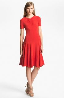 Carven Ruched Detail Jersey Dress