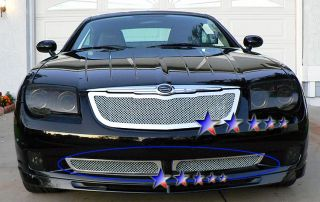 Stainless Chrome Mesh Grille 04 08 Chrysler Crossfire