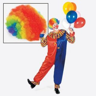 Rainbow Clown Wig Carnival Circus Party Costume