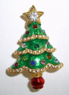New Christopher Radko R s Garland Christmas Tree Brooch