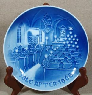 Bing Grondahl Christmas Plate 1968 in Church