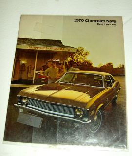 1970 70 Chevrolet Chevy Nova Brochure Coupe Sedan SS