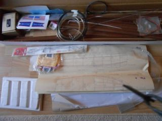Unbuilt 1947 Chris Craft Utility Wood Model Boat Dumas Kit in Box