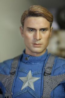 CIAN Chris Evans 1/6 Head Sculpt @@@ HeadPlay Hot Toys Captain America