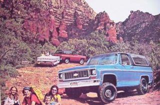 1973 chevy chevrolet rv blazer camper brochure quality auto literature