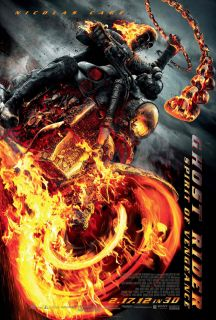 Ghost Rider 2 Spirit of Vengeance Movie Poster 2 Sided Original Final