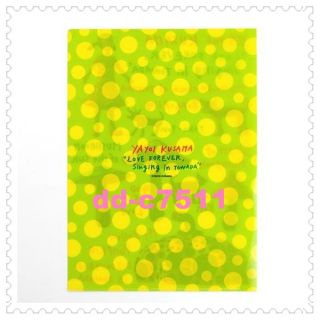 Yayoi Kusama Clear File Set of 4 Limited time offer  Dont