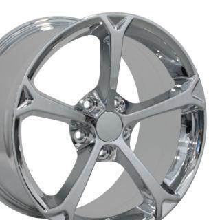 Staggered Set of Corvette C6 Grand Sport Style Replica Wheels
