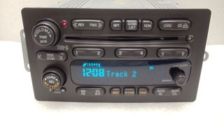 GMC CHEVROLET SILHOUETTE VENTURE UC6 RADIO RDS 6 DISC CD CHANGER 01 02