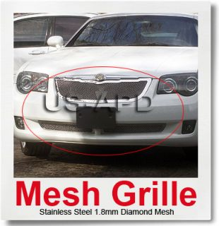 fitment 04 08 chrysler crossfire material stainless steel color chrome