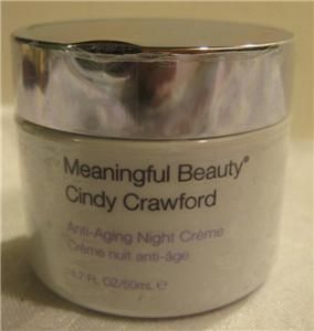 Cindy Crawford Meaningful Beauty Anti Aging Night Creme 1.7oz