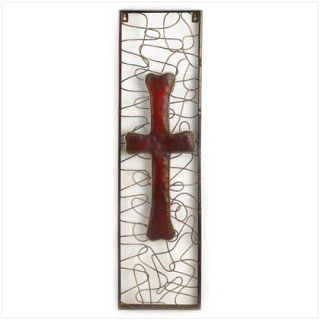 Christian Modern Art Metal Temple Cross Wall Plaque