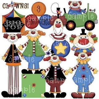 Circus Clipart Set Circus Clown Town Scrapbooking PU CU
