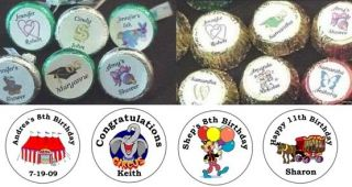 108 Circus Carnival Candy Kiss Labels Kisses Birthday