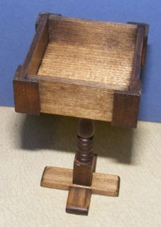 12 Scale Wooden Font Dolls House Miniature Church Furniture