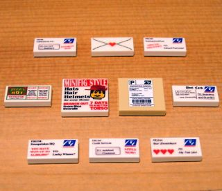 CUSTOM POSTAL PACK set for LEGO train/town/city post office mail
