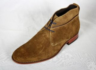 Cole Haan Air Colton Chukka Burnt Sugar Suede Mens Boots Shoes New