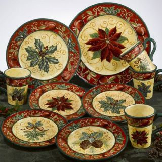 Tuscan Christmas Dinnerware Serveware Plates Bowls