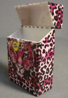 LEOPARD SKIN PRINT AND LOGO DESIGN HARD PLASTIC CIGARETTE CASE NEW