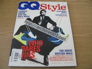 GQ Style 7 Christopher Bailey Stefano Pilati Male Muse Whisky Suits