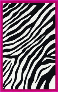 print area rug black white pink kids carpet animal print 4x6 5x7 area