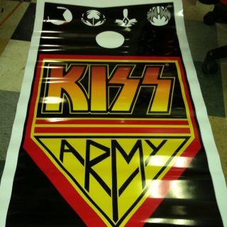 Kiss Army Full Size Cornhole Board Decals 2 Gene Simmons Bean Bag Toss