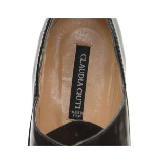 Claudia Ciuti Made in Italy Black Leather Lace Up Stilleto Heel Pumps