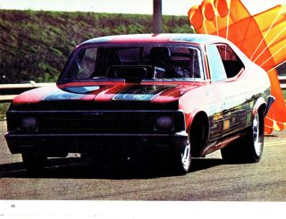 AHRA Drag Racing Chevrolet Nova Funny Car Larry Christopherson