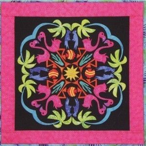 Fabulous Flamingos #7 Circle of Friends Quilted Lizard Quilt Pattern
