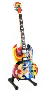 Miniature Guitar Clapton Harrison Rundgren Gibson SG Fool Saga Free